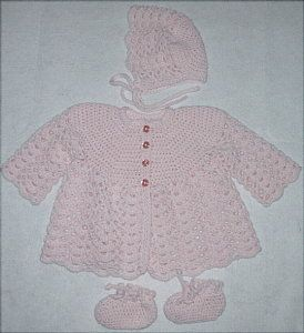 Crochet Baby Sweater - A Free Pattern