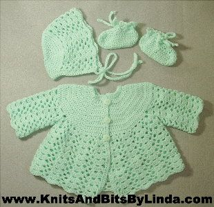 Baby sweaters - Sue's Crochet Designs - American Girl Doll