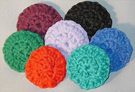 Crocheting Pot Scrubbers : how to crochet pot scrubbers from netting - YouTube
