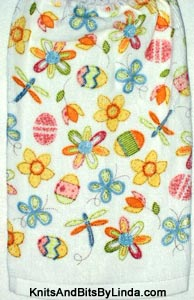 Spring flowers and Easter eggs hand towel