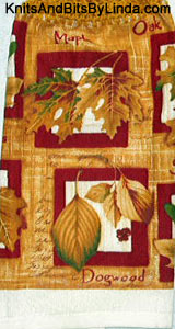 Fall Leaves  2 Kitchen Hand Towel