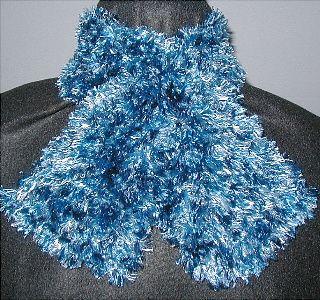 Hand Knit Scarves Keyhole Style Using Bernat Boa Fashion Designer