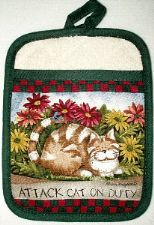 Attack Cat Pot Holder Mitt