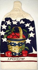 Americana apples hand towel