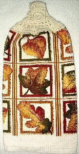 Copper leaves kitchen hanging towel