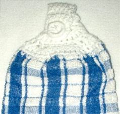 Blue Plaid 3 Hanging kitchen towel