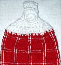 Red Plaid Hanging hand towel