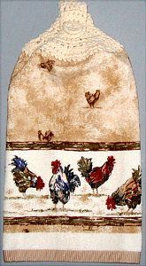 Chickens in the Yard kitchen hand towel