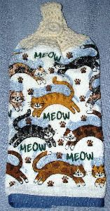 Meow Cats 01 Kitchen Hand Towel