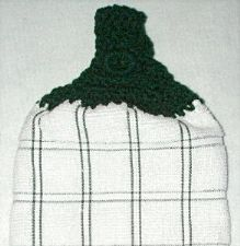 hunter plaid with hunter top hand towel