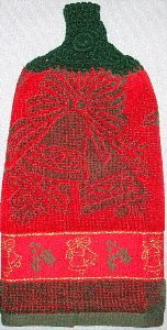 Red Christmas towel 4