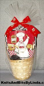 pasta chef gift towel basket