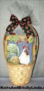 rooster gift basket set