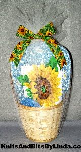sunflower gift basket set