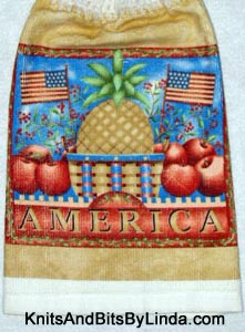 America pineapple basket kitchen hand towel