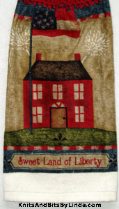 colonial kitchen hand towel