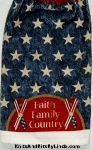 faith, family, country hanging hand towel