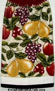 antique fruit kitchen dish towel