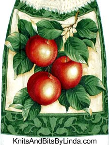 cluster of apples kitchen hand towel