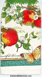 apples and blossoms hanging kitchen hand towel