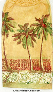palm trees hanging hand towel