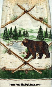 kitchen hand towel with  bear