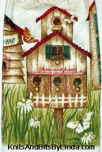 Birdhouses Kitchen Hand Towel