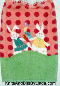 Boy and girl bunnies hand towel