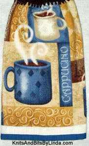 cappuccino coffee hanging hand towel