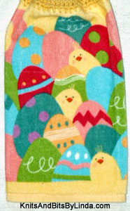 chicks & eggs hand towel
