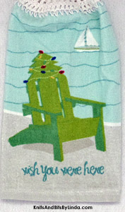 Christmas beach chair hanging kitchen hand towel