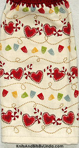 Christmas candy garland hanging hand towel