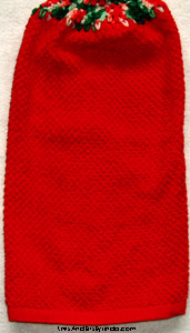 textured red christmas hand towel