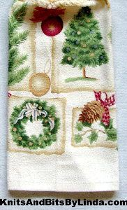 White Christmas hand towel