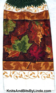 Fall Leaves 4  Kitchen Hand Towel
