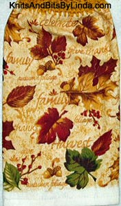 Fall Leaves  Kitchen Hand Towel