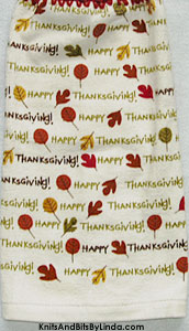 happy thanksgiving hanging hand towel
