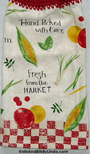 farm market hanging kitchen hand towel