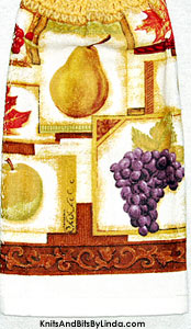 mixed fruit hanging kitchen hand towel