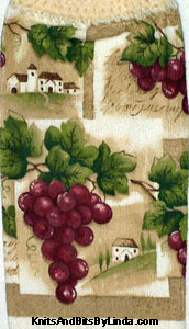 cluster of grapes  kitchen hand towel