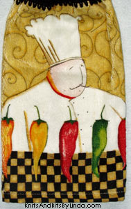 hot chef hanging hand towel