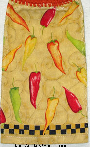 hot peppers kitchen dish towel