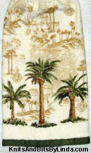 palm trees hanging kitchen hand towel