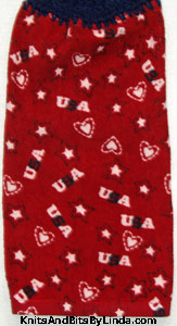 USA patriotic kitchen hand towel