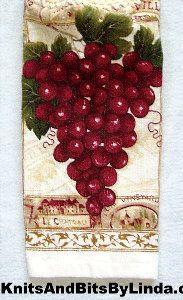red grapes kitchen hand towel