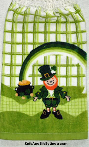 leprechaun towels for st patrick's day