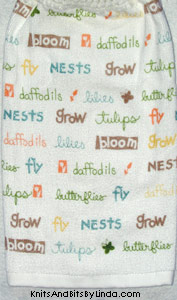 words of spring hanging hand towel