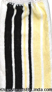 navy, yellow and white strip hand towel