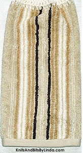 shades of tan stripe hand towel