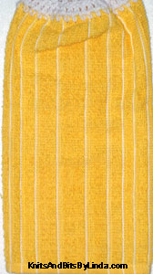 yellow and white stripe kitchen hand towel